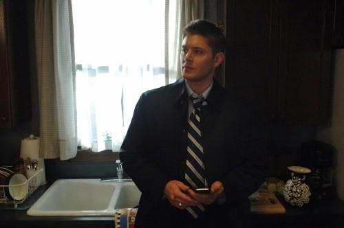 Jensen Ackles in una scena dell'episodio Jump the Shark di Supernatural