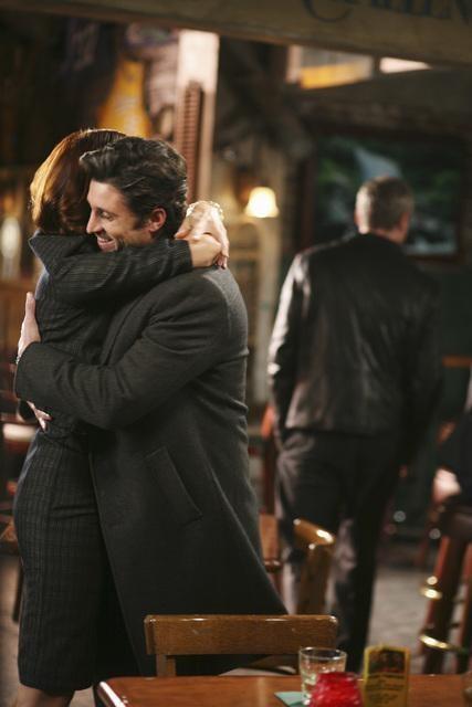 Patrick Dempsey e Kate Walsh in una scena dell'episodio Before and After di Grey's Anatomy