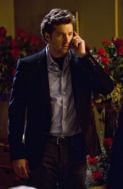 Patrick Dempsey in una scena dell'episodio Beat Your Heart Out di Grey's Anatomy