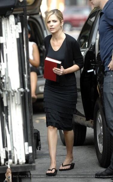 Sarah Michelle Gellar sul set del film Veronika decide di morire