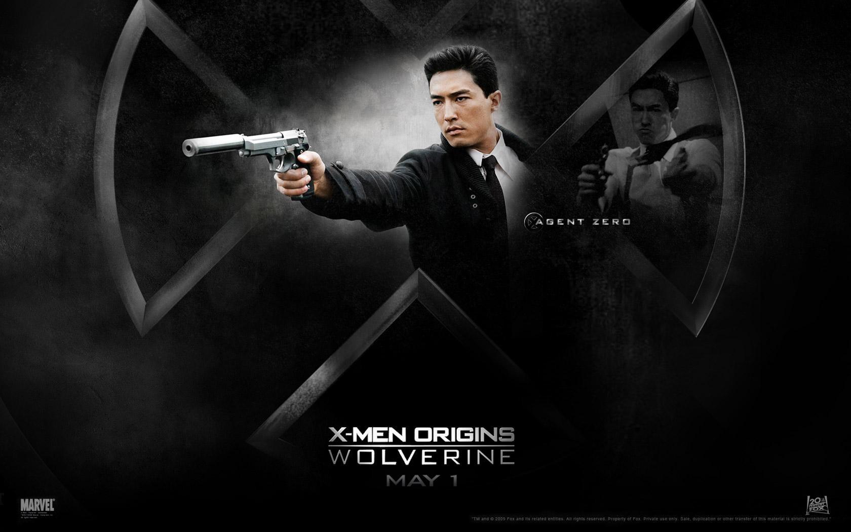 Un wallaper del film X-Men - Le origini: Wolverine con Daniel Henney, interprete di Agent Zero