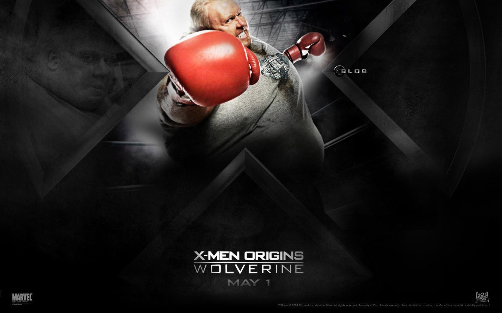 Un wallaper del film X-Men - Le origini: Wolverine con Kevin Durand, interprete di Blob