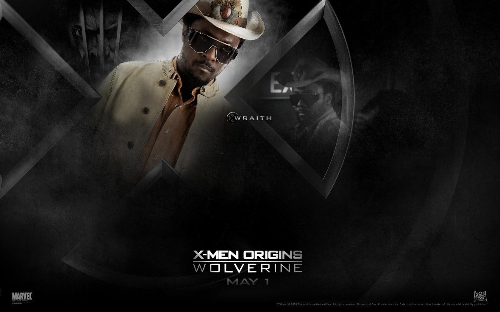 Un wallaper del film X-Men - Le origini: Wolverine con Will i Am, interprete di John Wraith