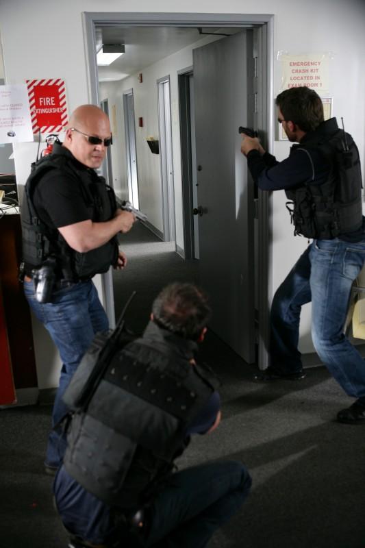 Una immagine del serial poliziesco The Shield.