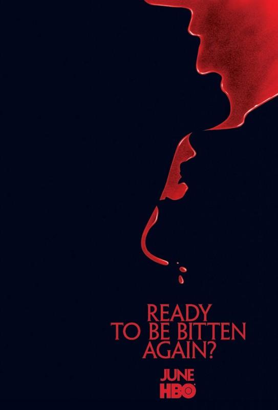 Una locandina della seconda stagione della serie tv True Blood