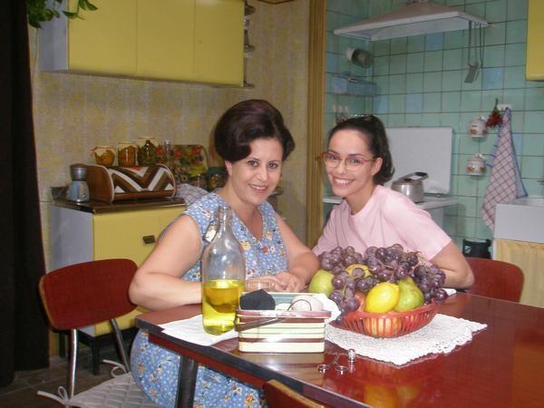 Daniela Terreri ed Elena Cucci sul set di Piper, la serie