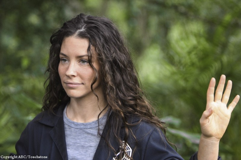 Evangeline Lilly nell'episodio Follow the Leader di Lost