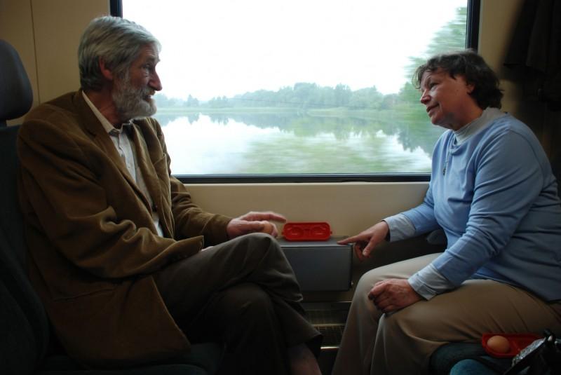 Horst Rehberg e Ursula Werner in una scena del film Settimo cielo