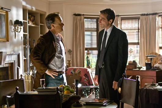 Robert Langdon (Tom Hanks) in una sequenza di Angeli e Demoni (2009)