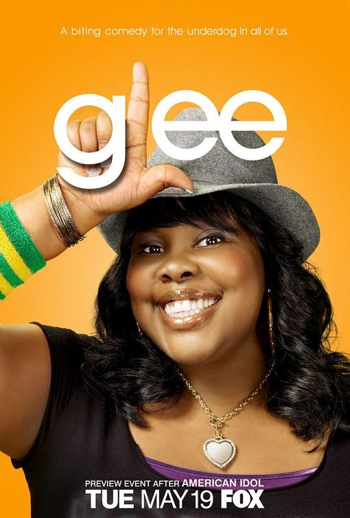 Character poster di Glee sul personaggio interpretato da Amber Riley