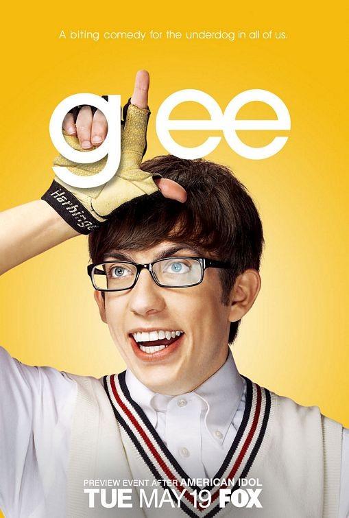 Character poster di Glee sul personaggio interpretato da Kevin McHale