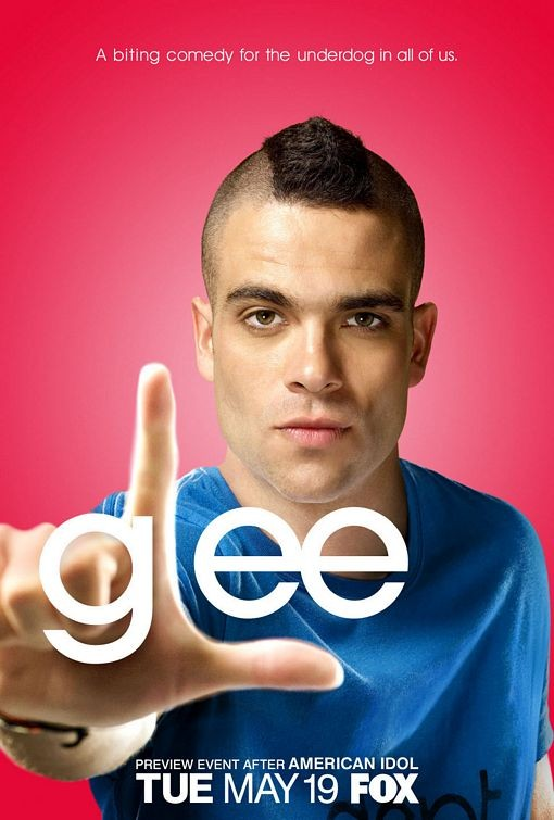 Character poster di Glee sul personaggio interpretato da Mark Salling