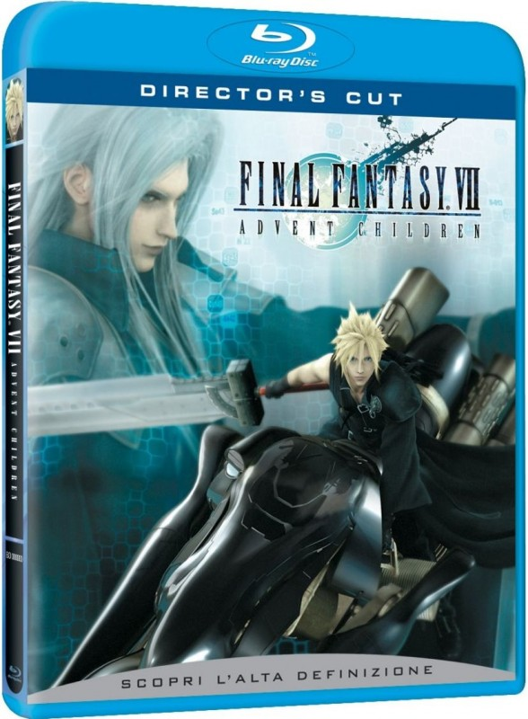La copertina di Final Fantasy VII: Advent Children (blu-ray)