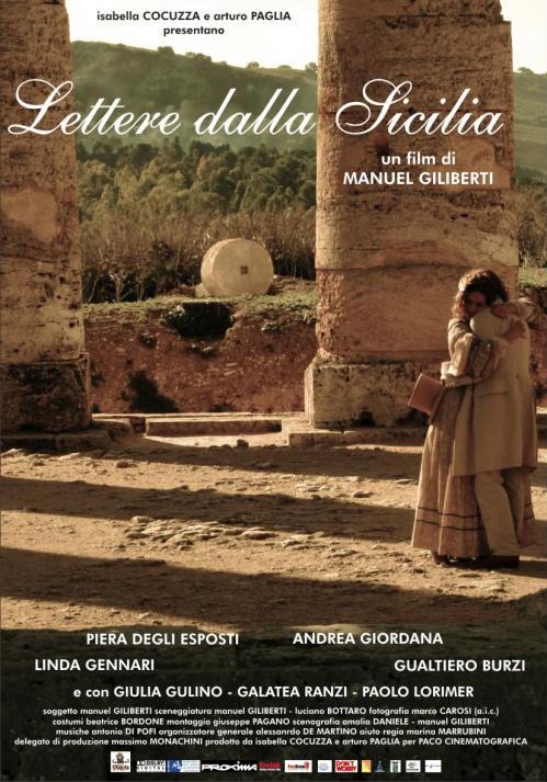 La locandina di Lettere dalla Sicilia