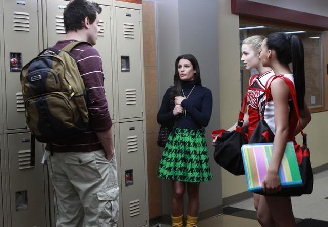 Lea Michele, Cory Monteith e Dianna Agron nel pilot della serie Glee