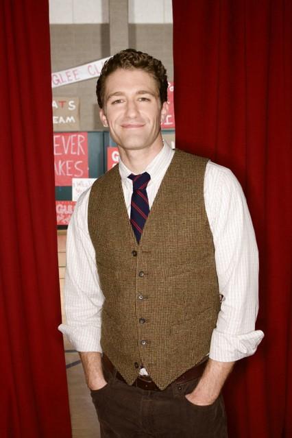 Matthew Morrison in una foto promozionale della serie Glee