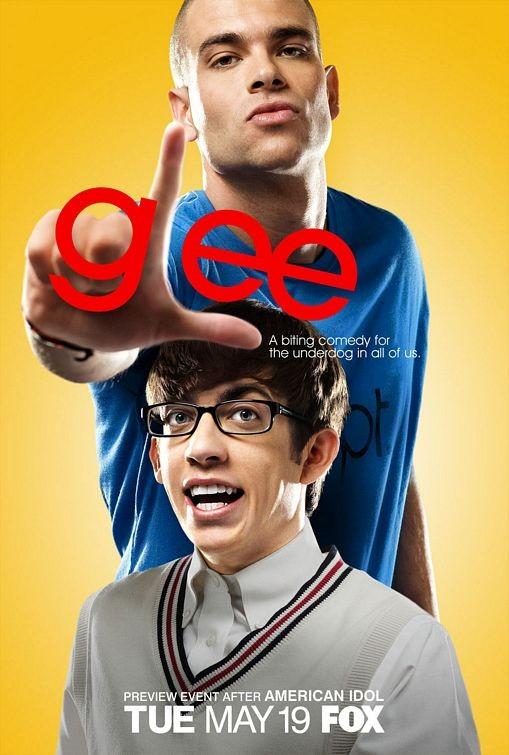 Un manifesto della serie Glee