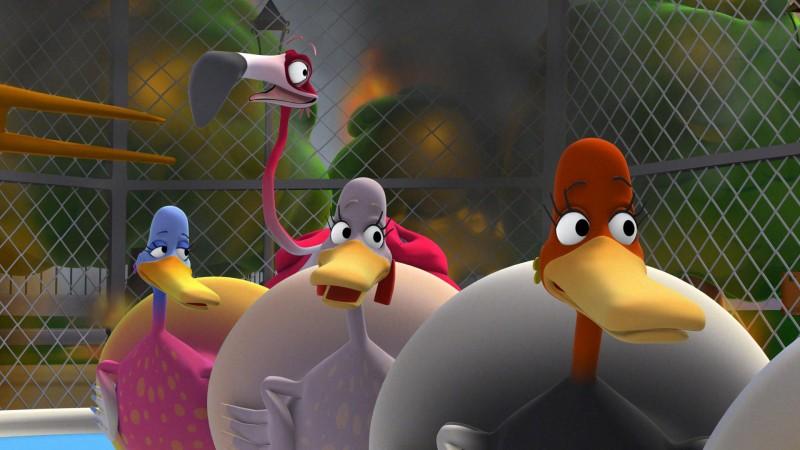 Una scena della serie d'animazione La banda volante