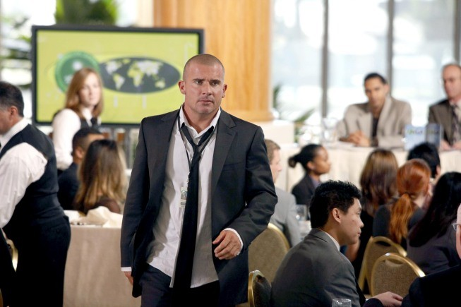 Dominic Purcell in una scena dell'episodio S.O.B. di Prison Break