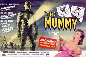 Una bella lobbycard promozionale de La mummia