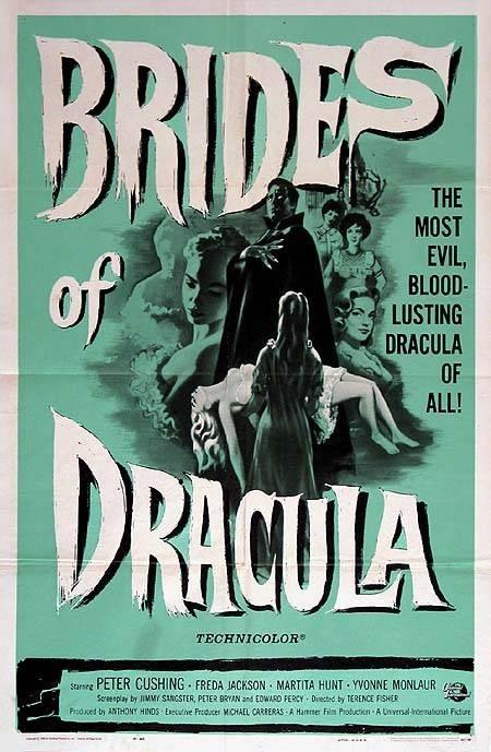 Locandina inglese di Le spose di Dracula