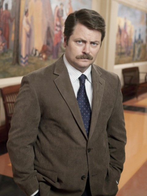 Nick Offerman è Ron Swanson in Parks and Recreation