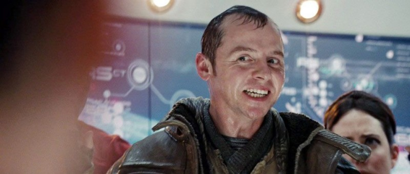 Simon Pegg è Scotty nel film Star Trek