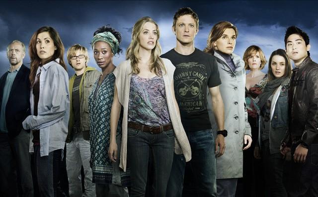 Una foto promozionale del cast della nuova serie NBC Day One