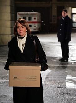 Laura Innes e in secondo piano Goran Visnjic nell'episodio ' A House Divided '  della serie tv ER - Medici in prima linea
