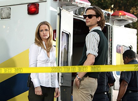 A.J. Cook e Matthew Gray Gubler in un momento dell'episodio 'Dubbio' della serie tv Criminal Minds