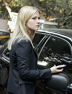 A.J. Cook in una scena dell'episodio ' L'uomo Nero ' della serie Criminal Minds