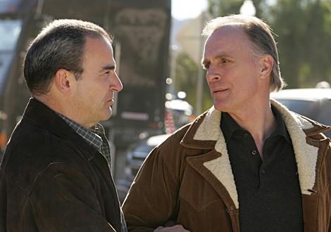 Mandy Patinkin e Keith Carradine, qui nel ruolo di Frank, un prolifico serial killer nell'episodio ' No Way Out ' di Criminal Minds