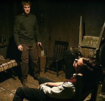 Matthew Gray Gubler e James Van Der Beek nell'episodio 'Raphael - seconda parte' della serie tv Criminal Minds