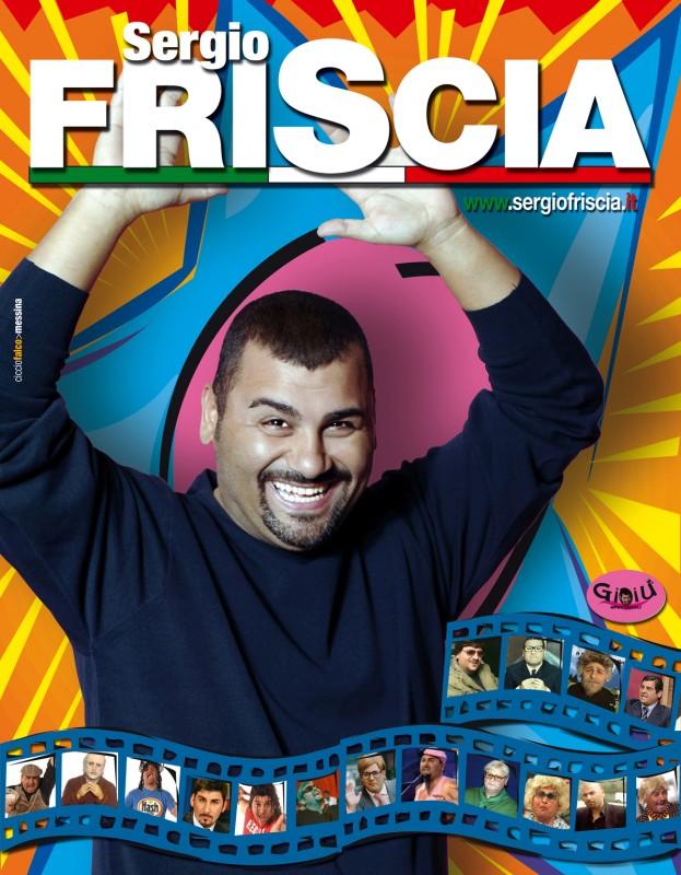 Sergio Friscia - e i tantissimi personaggi da lui interpretati - in una immagine pubblicitaria.