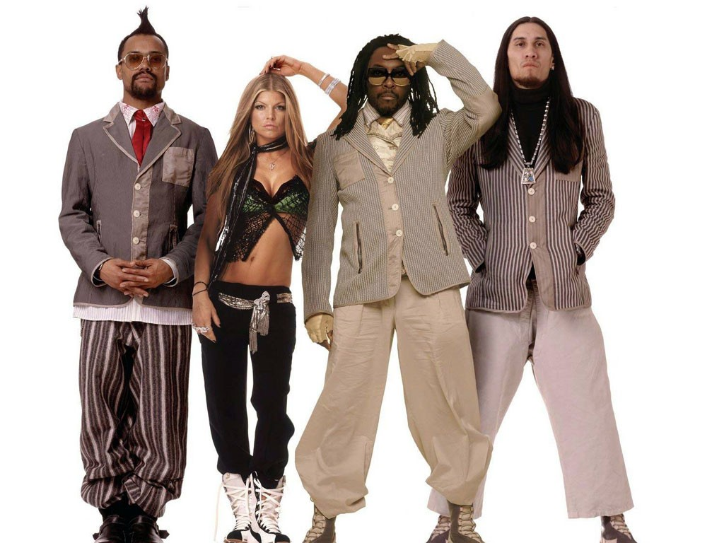 Wallpaper: The Black Eyed Peas su sfondo bianco