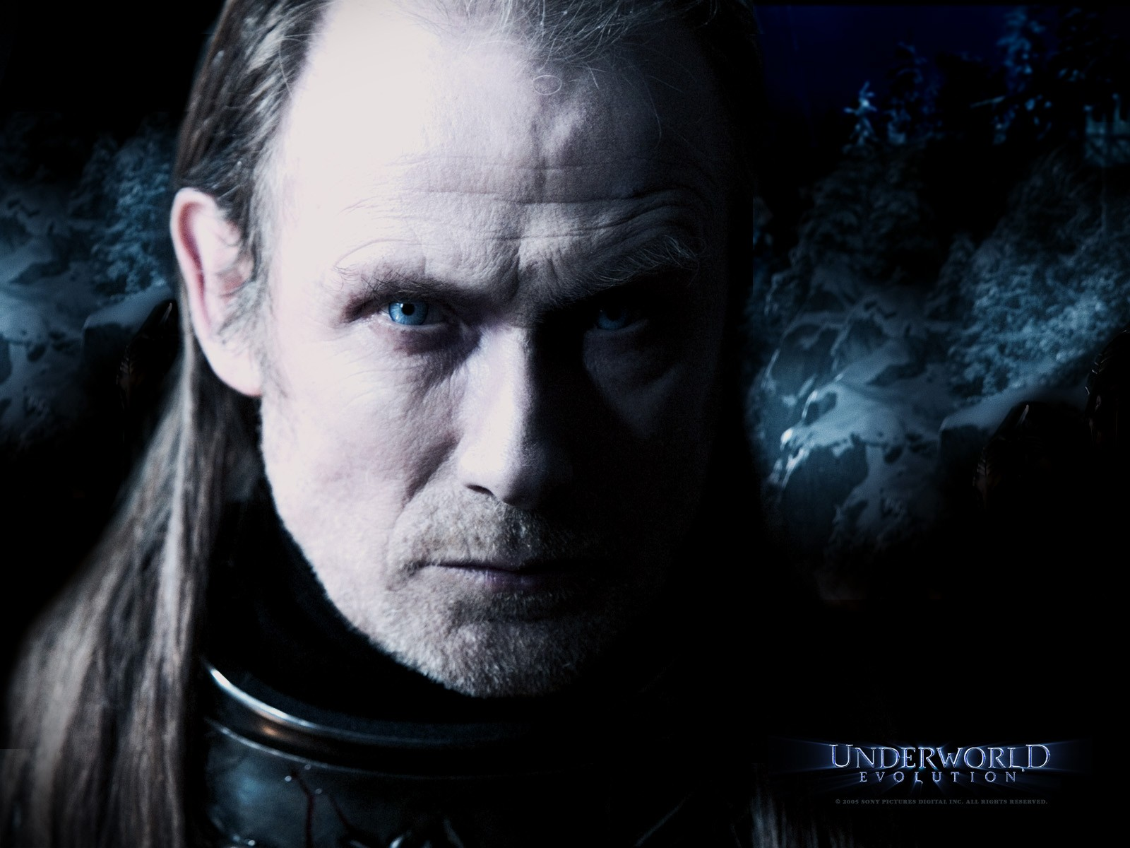 Un wallpaper di Bill Nighy che interpreta Viktor in 'Underworld: Evolution'