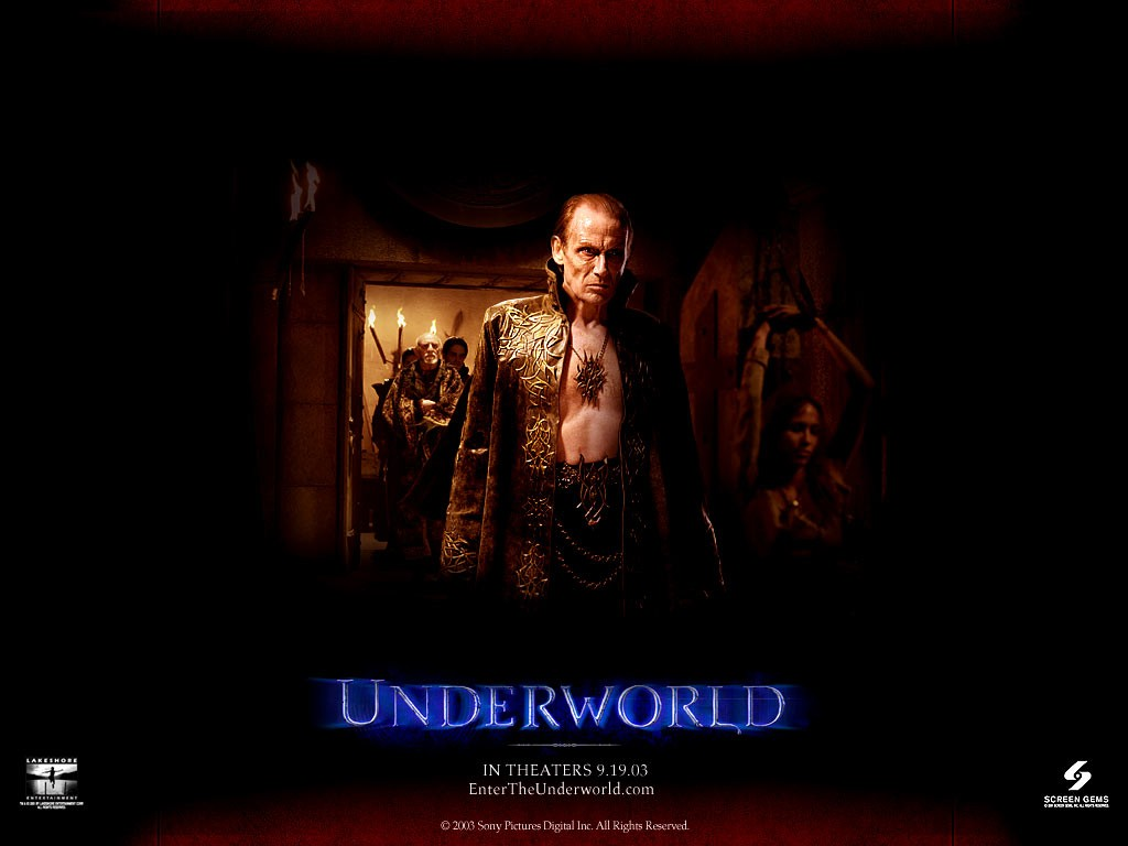 Un wallpaper di Bill Nighy nella parte di Viktor nel film 'Underworld'