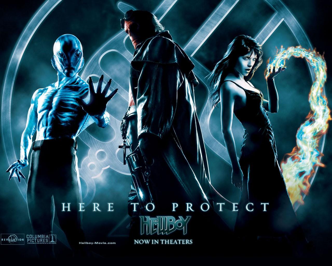 Wallpaper di Hellboy e i suoi compagni nel film 'Hellboy'