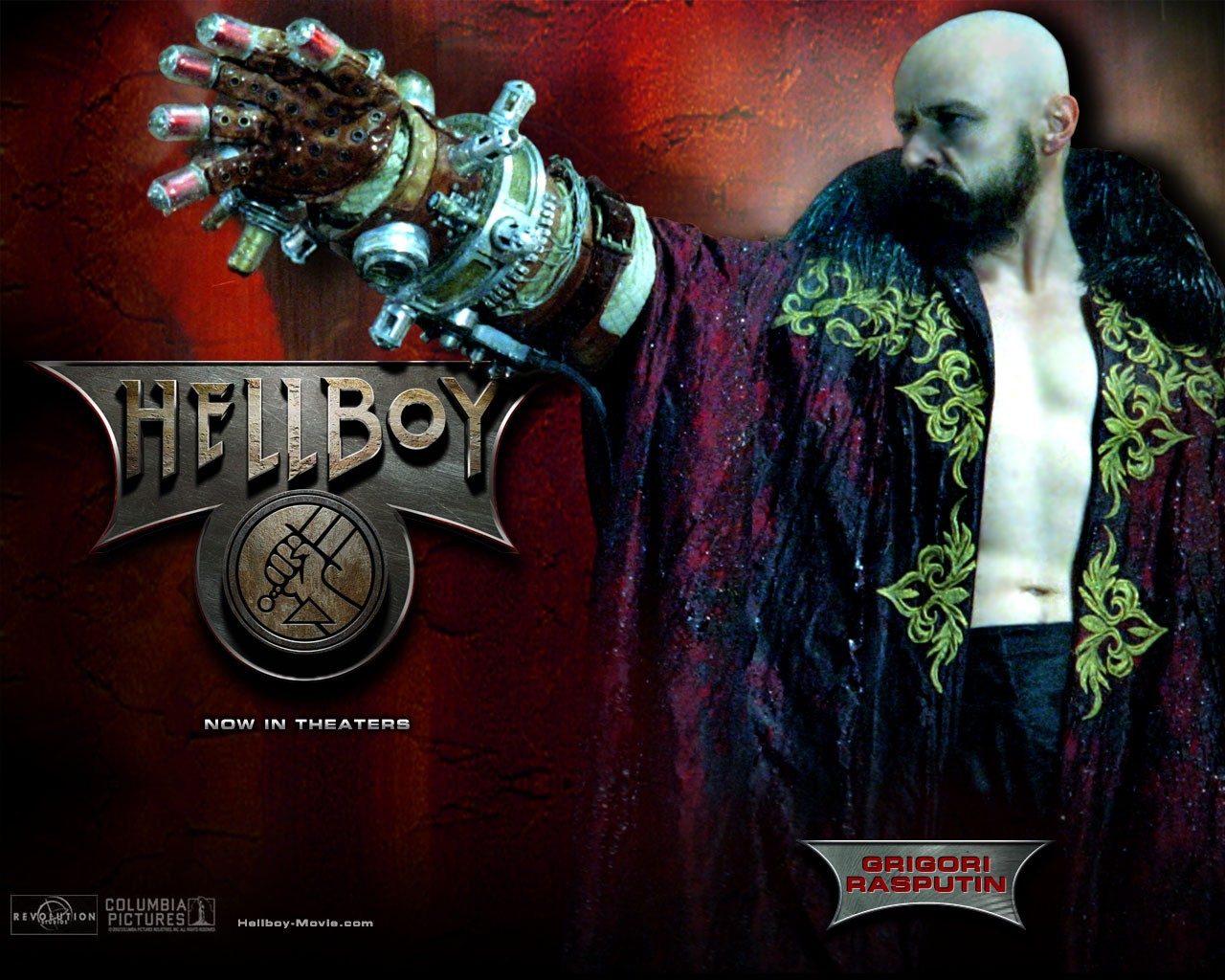 Wallpaper di Karel Roden che interpreta Grigori Rasputin nel film 'Hellboy'