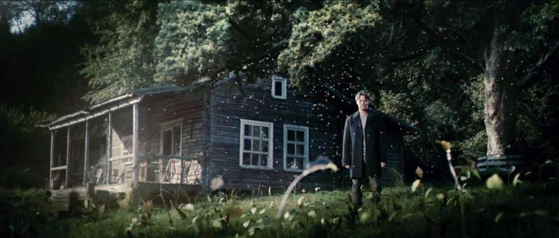 Willem Dafoe in una scena del film Antichrist