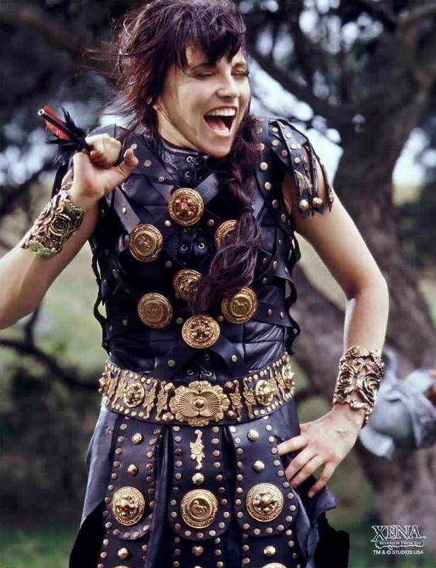 Lucy Lawless è Xena nella serie 'Xena: Principessa Guerriera'