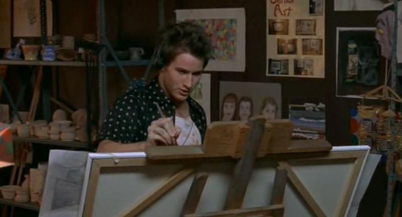 Michael (Brendan Fehr) dipinge nell'episodio 'Il diario scomparso' di Roswell
