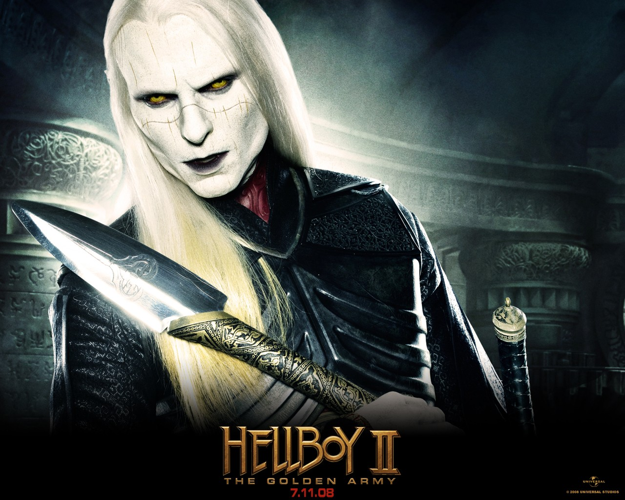 Un wallpaper di Luke Goss nel film 'Hellboy II - The Golden Army'