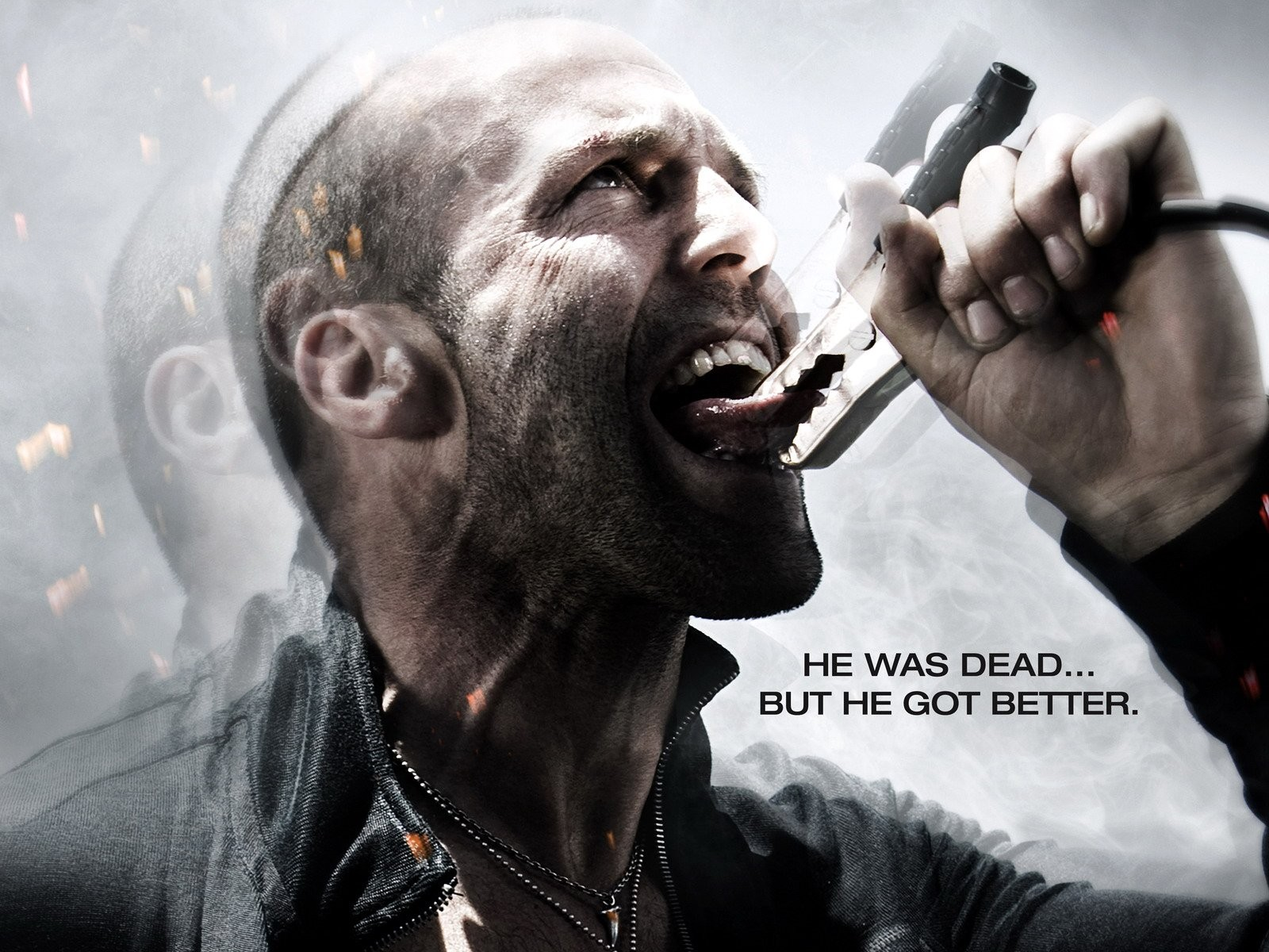 Un wallpaper con Jason Statham per Crank 2: High Voltage