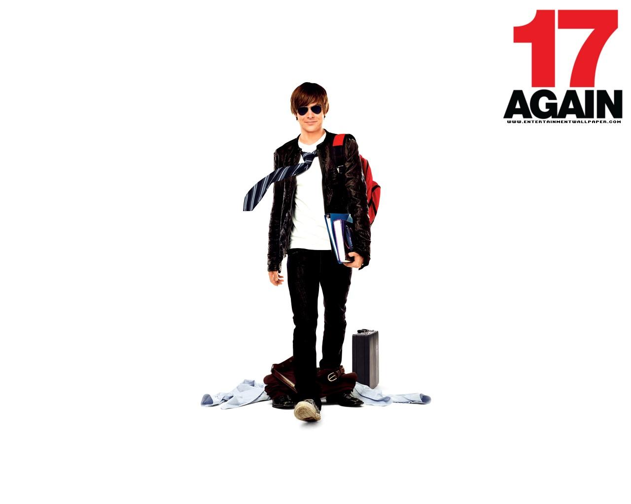 Un wallpaper di Zac Efron nel film 17 Again - Ritorno al Liceo