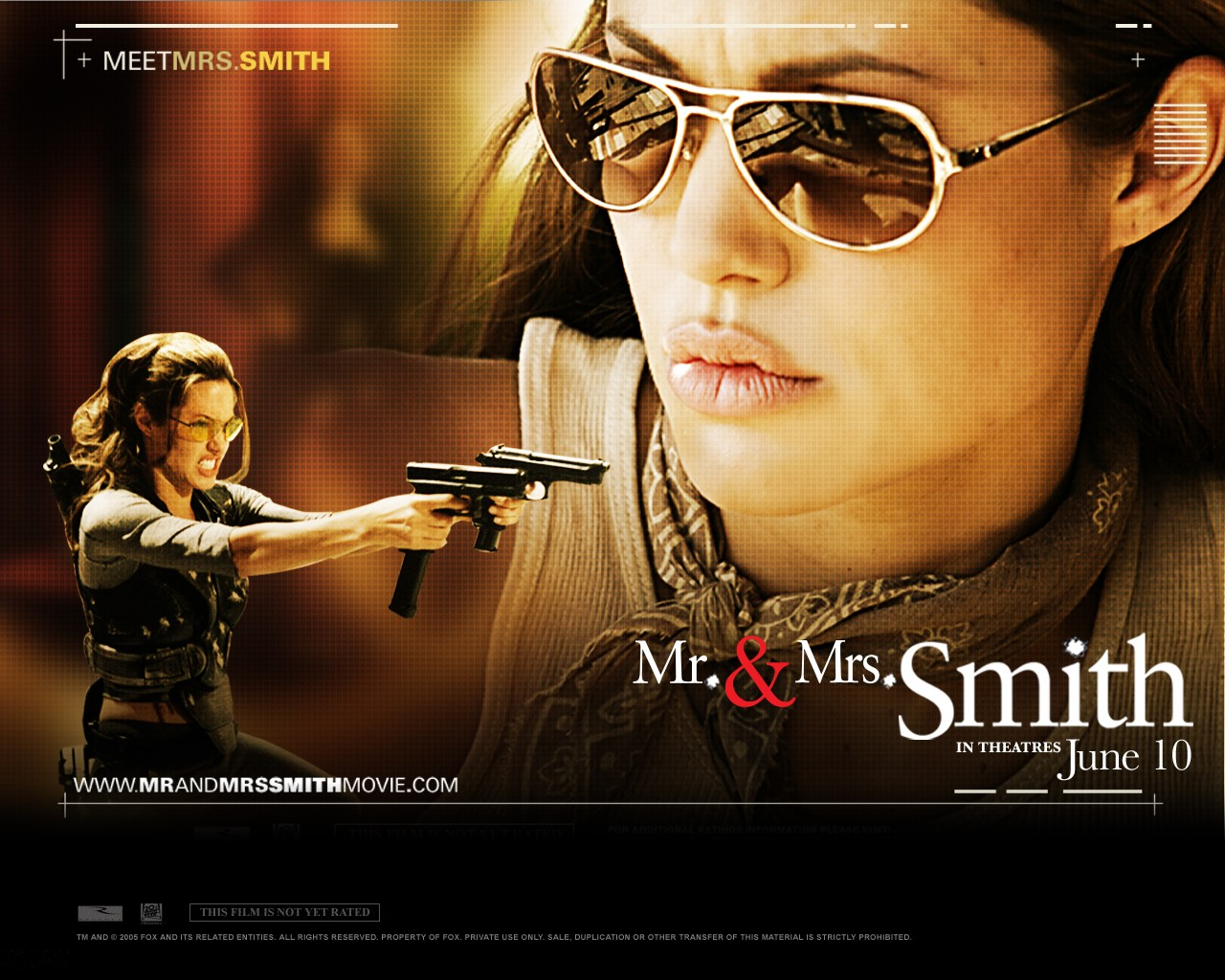 Wallpaper di Angelina Jolie nel film Mr. and Mrs. Smith