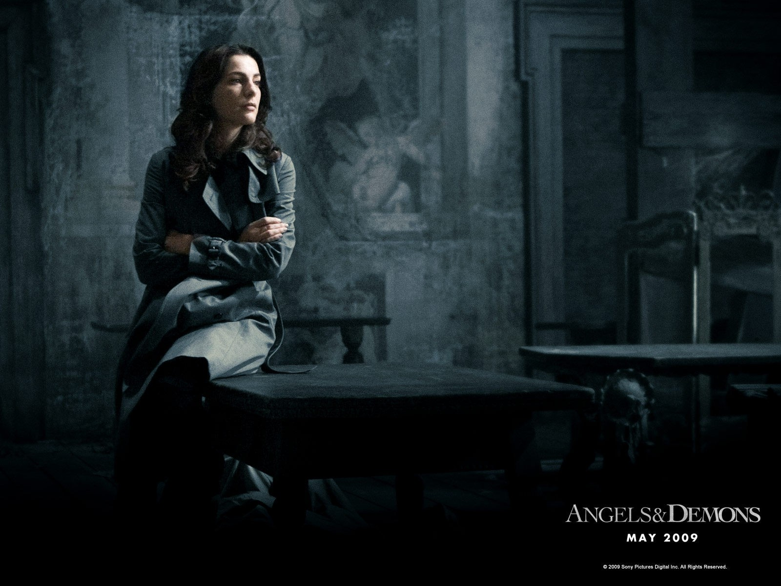 Wallpaper di Ayelet Zurer nel film 'Angeli e Demoni'