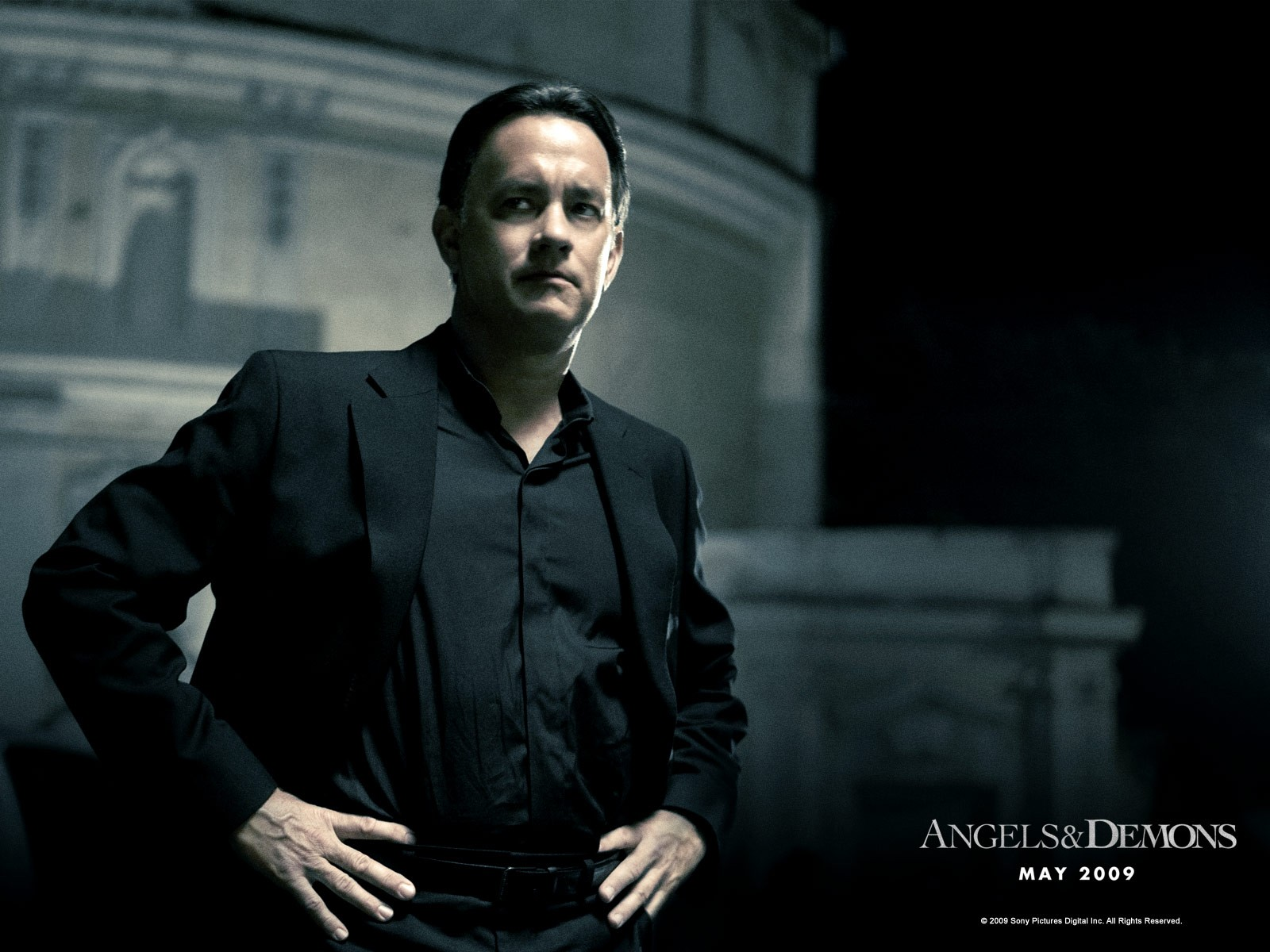 Wallpaper di Tom Hanks nel film 'Angeli e Demoni'