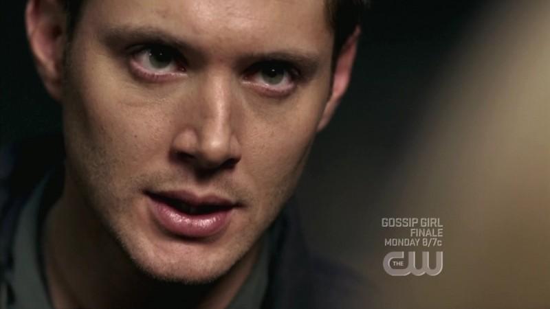 Un primo piano di Jensen Ackles nell'episodio When the Levee Breaks di Supernatural