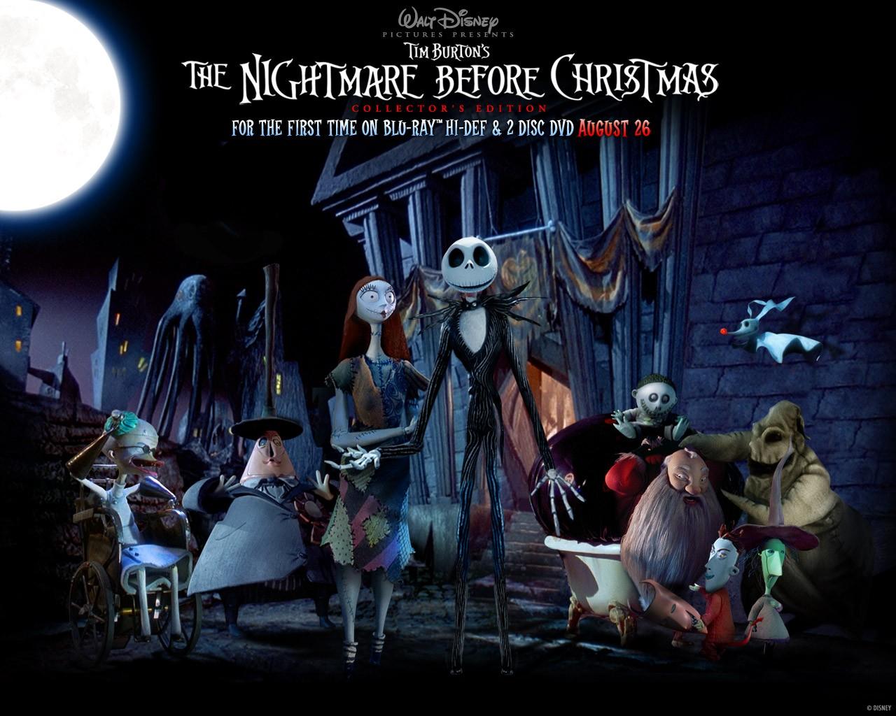 Un wallpaper del film 'Nightmare Before Christmas' di Tim Burton